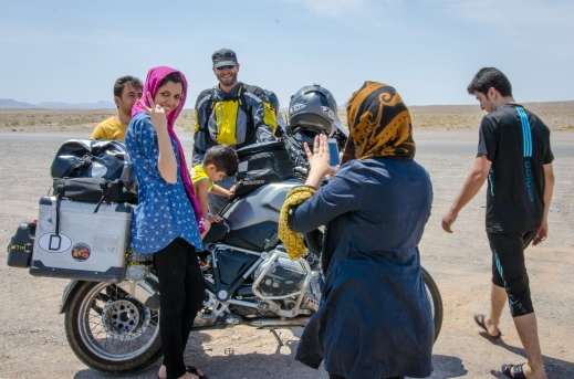 Meeting people on the roads of Iran