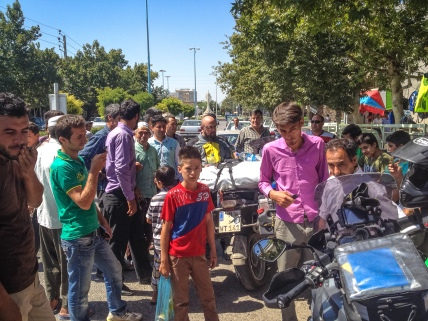 Meeting people on a stop in Iran