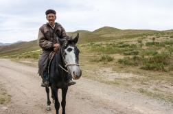 Riding in the mountains of Kyrgyzstan