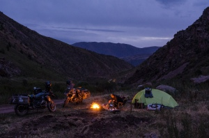 Camping in the mountains of Kyrgyzstan