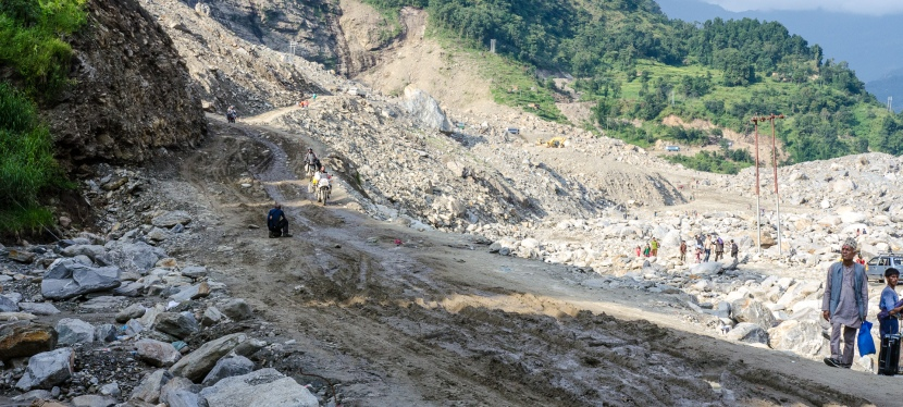 Along the way: The Nepaleselandslide.