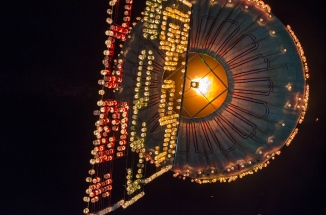 Tazaungdiang, the Festival of Lights in the city of Taunggyi, Myanmar.