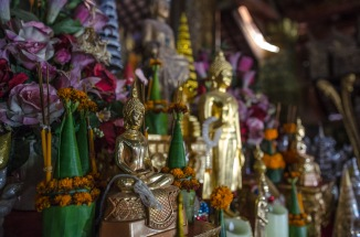 Inside a buddhist temple in Luang Prabang, Laos