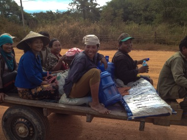 Meeting local people in the countryside of Laos.