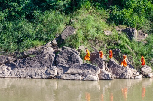 Buddhist monks in Luang Prabang, Laos
