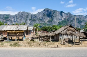 A typical village on the countryside of Laos