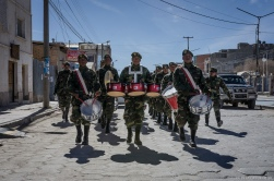 Soldier parade in Bolivia