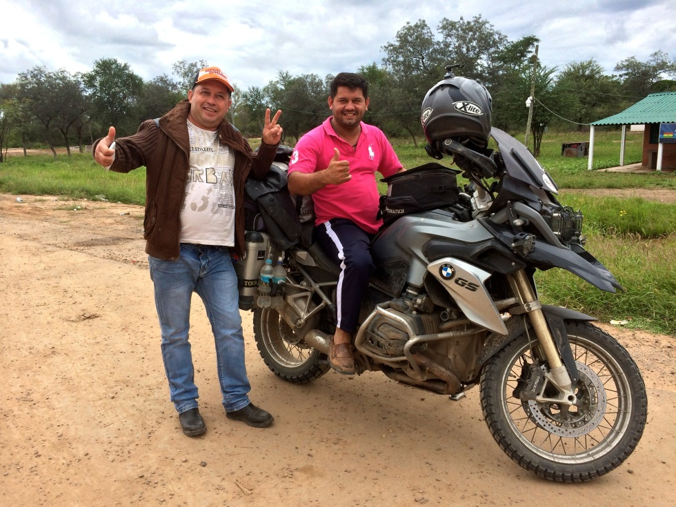 Meeting truck drivers in Paraguay