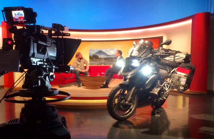 Interview at German television show 'Abendschau', Bayerischer Rundfunk, BR