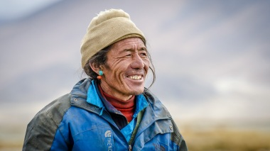 Sherpa nahe des Mount Everest in Tibet