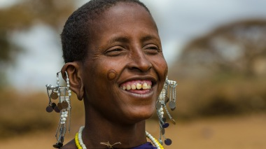Massai-Frau in Tansania